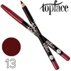 TopFace - Карандаш для губ PT-610 дерево водостойкий Тон 13 red cherry матовый