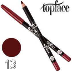TopFace - Карандаш для губ PT-610 дерево водостойкий Тон 13 red cherry матовый, фото 2