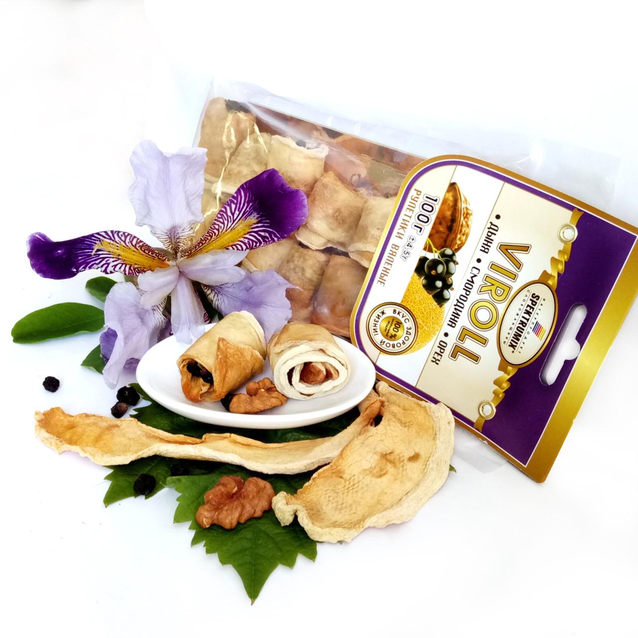 Конфеты из сухофруктов «Viroll» (дыня, смородина, орех), 100 г