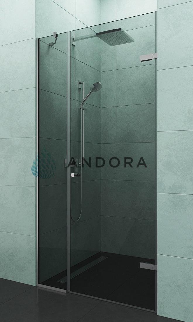 Душевые двери Andora Relax 90x200 стекло grafite