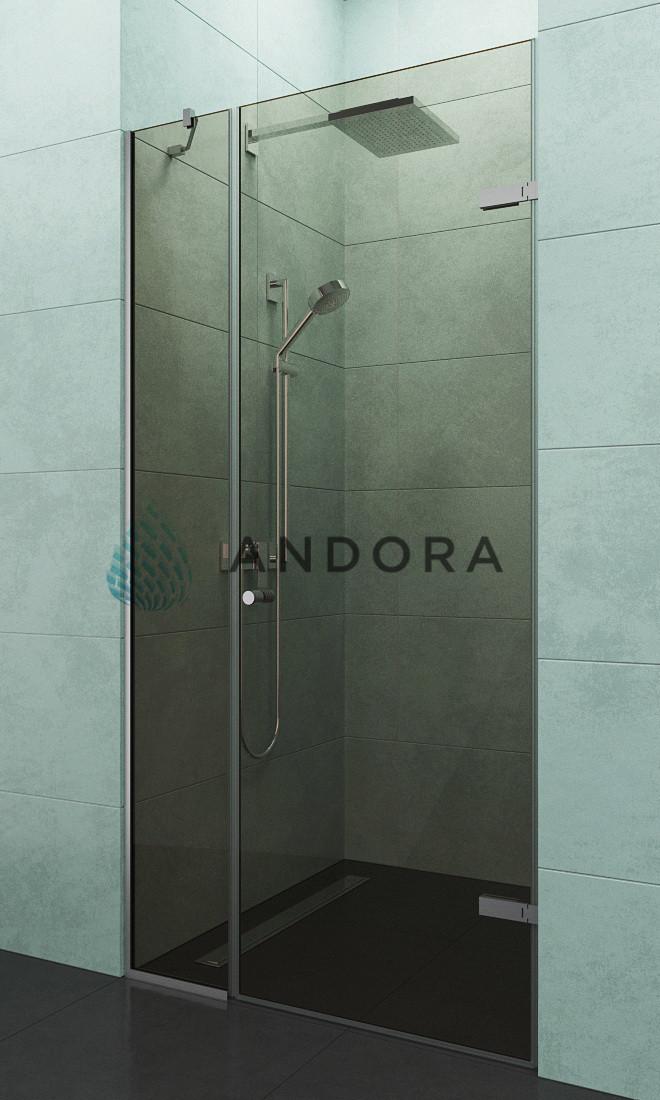 Душевые двери Andora Relax 120x200 стекло bronze