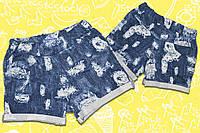 Шорты SmileTime для девочки Ragged, трикотажный джинс