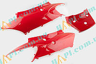 Пластик Zongshen F1, F50 задняя боковая пара (красный) KOMATCU