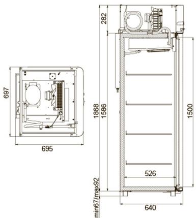 Холодильный шкаф polair cv105-gm alu, фото 2