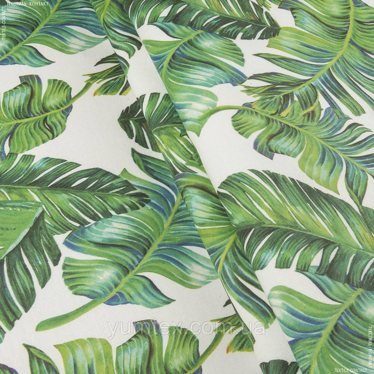 Декоративна тканина листя / tumbona зелений,синій 144507