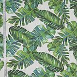 Декоративна тканина листя / tumbona зелений,синій 144507, фото 2