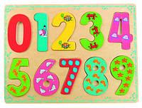 Досточка - вкладки цифры с рисунками Bino (88109)