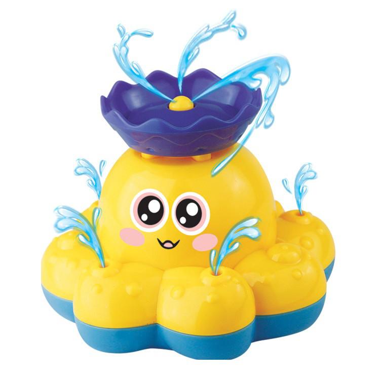 Плавательная игрушка SUNROZ Spray Octopus осьминог-распылитель Желтый (SUN0759)