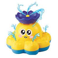 Плавательная игрушка SUNROZ Spray Octopus осьминог-распылитель Желтый (SUN0759), фото 1