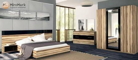 Кровать Соната (орех балтимор / чёрный глянец), фото 2