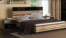 Кровать Соната (орех балтимор / чёрный глянец), фото 3