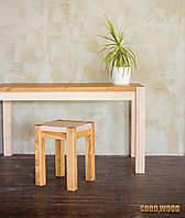 Стол деревянный обеденный W-1, ясень или дуб, (Ш1200* В760 * Г900)