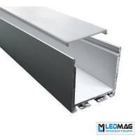 Профиль для светодиодной ленты накладной PML-420 ( с крышкой) 35х35 мм