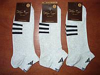 """Сетка. Мужской носок """"в стиле"""" Adidas. р. 31. Светло-серые, фото 1"""