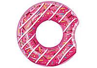 Bestway 36118, надувной круг Розовый Пончик, 107 см (Розовый), фото 1
