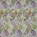 Жаккард фаски ромб-печворк фрезово-фіолетовий 146515, фото 2