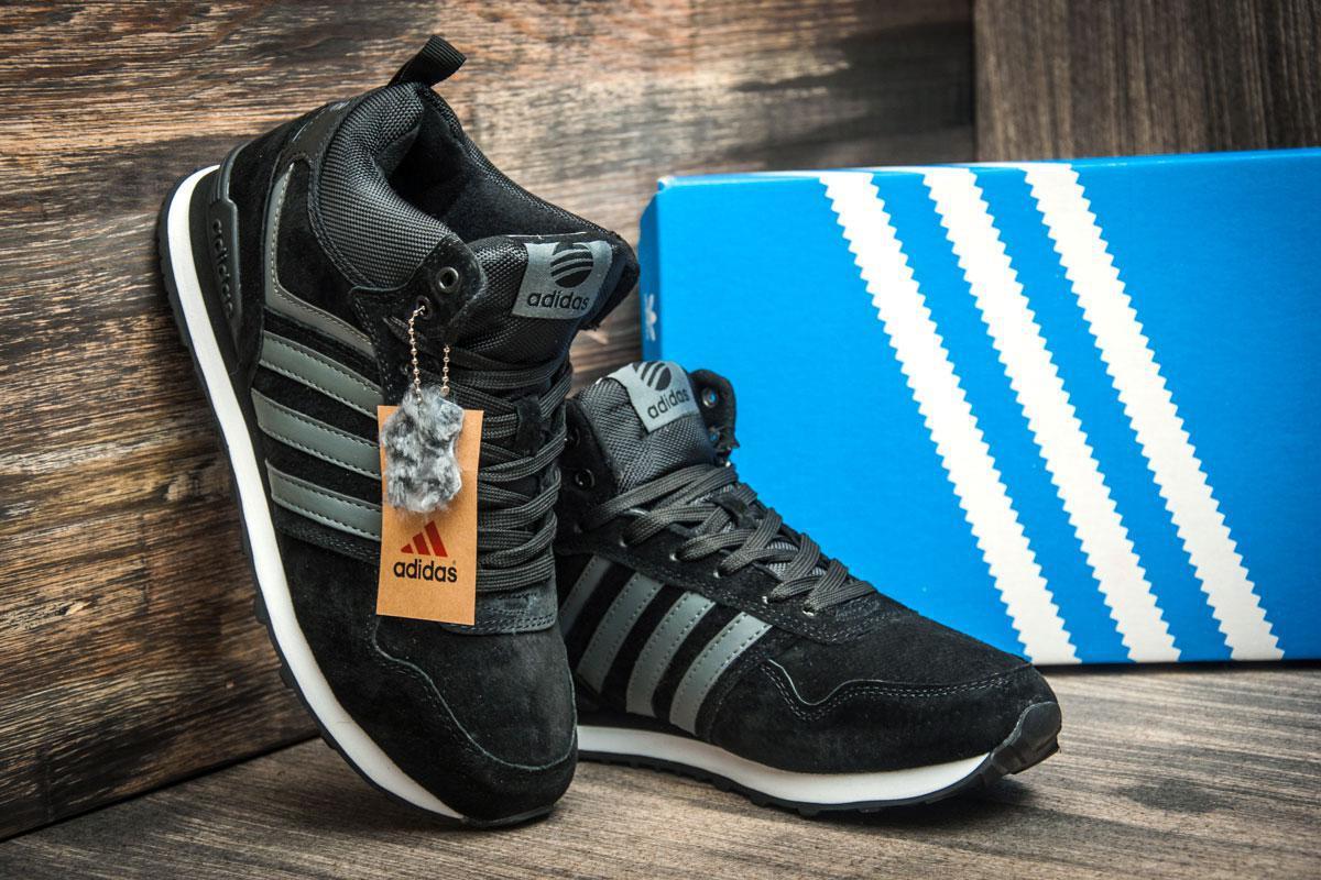4969c10b Зимние кроссовки на меху в стиле Adidas Fastr TEX, черные (3180-1), [ 41  (последняя пара) ], цена 1 320 грн., купить в Киеве — Prom.ua (ID#707273596)