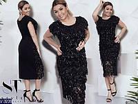 Вечернее платье V-3238 (48-50, 52-54, 56-58) — купить Вечерние платья XL+ оптом и в розницу в одессе 7км