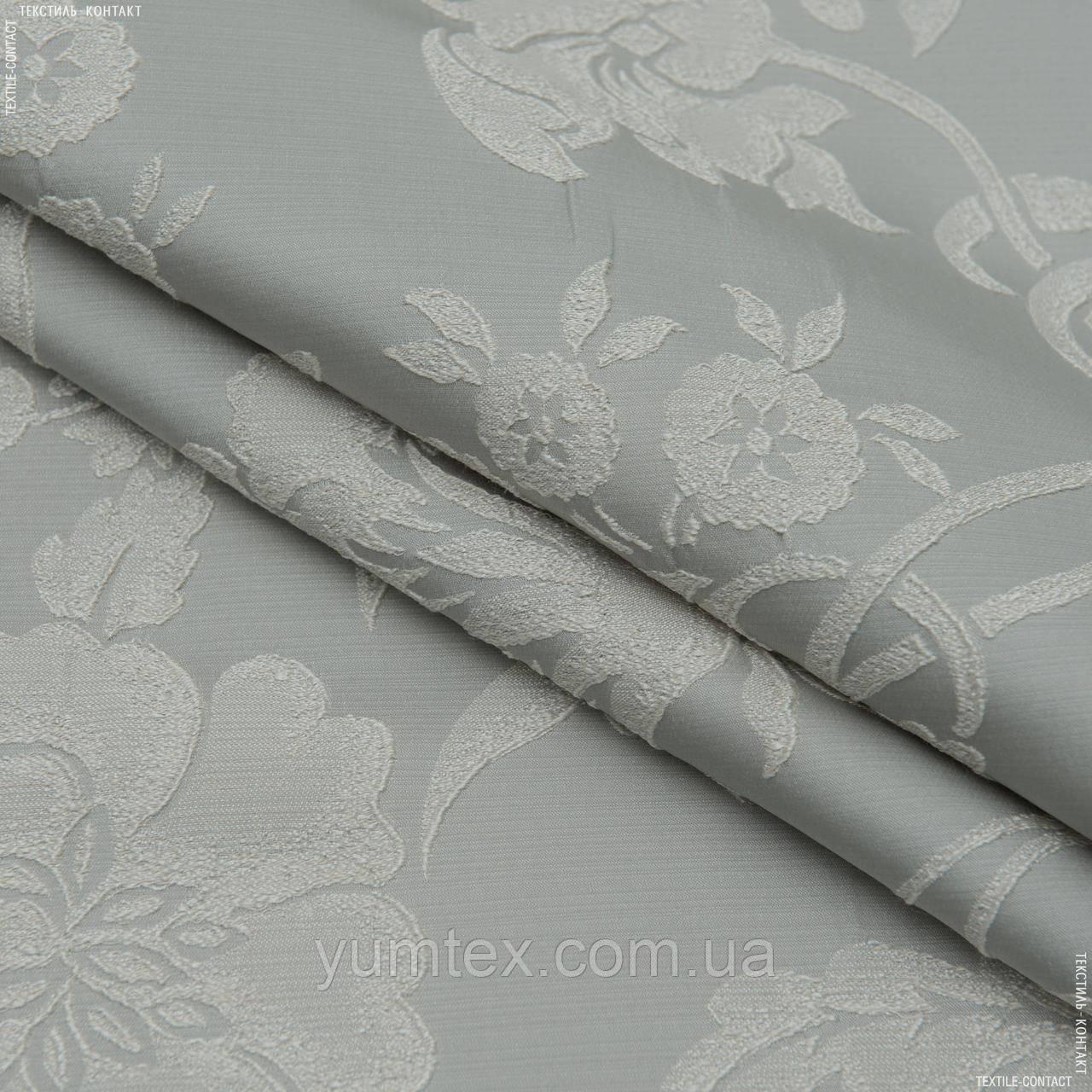 Декоративна тканина дрезден компаньйон квіти сірий 147279