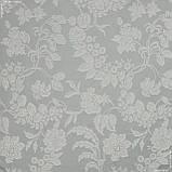 Декоративна тканина дрезден компаньйон квіти сірий 147279, фото 2