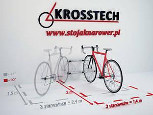 Велопарковка на 3 велосипеди Echo-3 Wall Польща