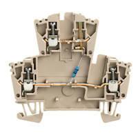 Модульные клеммы Weidmuller WDK 2.5 LD RT 24VDC +- - 1023600000