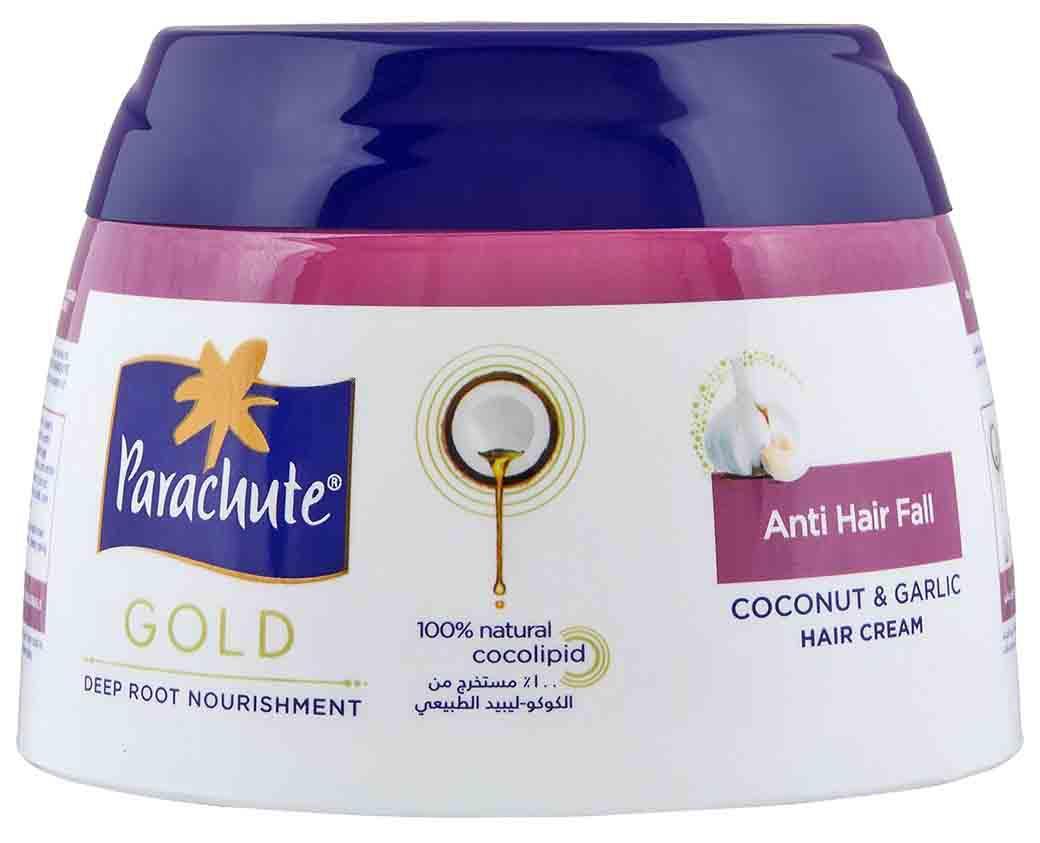 Parachute Gold с экстрактом Чеснока. Кокосовый крем против выпадения волос, 140 мл