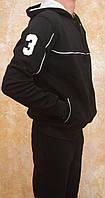 Мужской утепленный спортивный костюм POLO(черный)