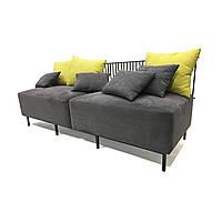 Металлический модульный диван Combo с мягкими подушками