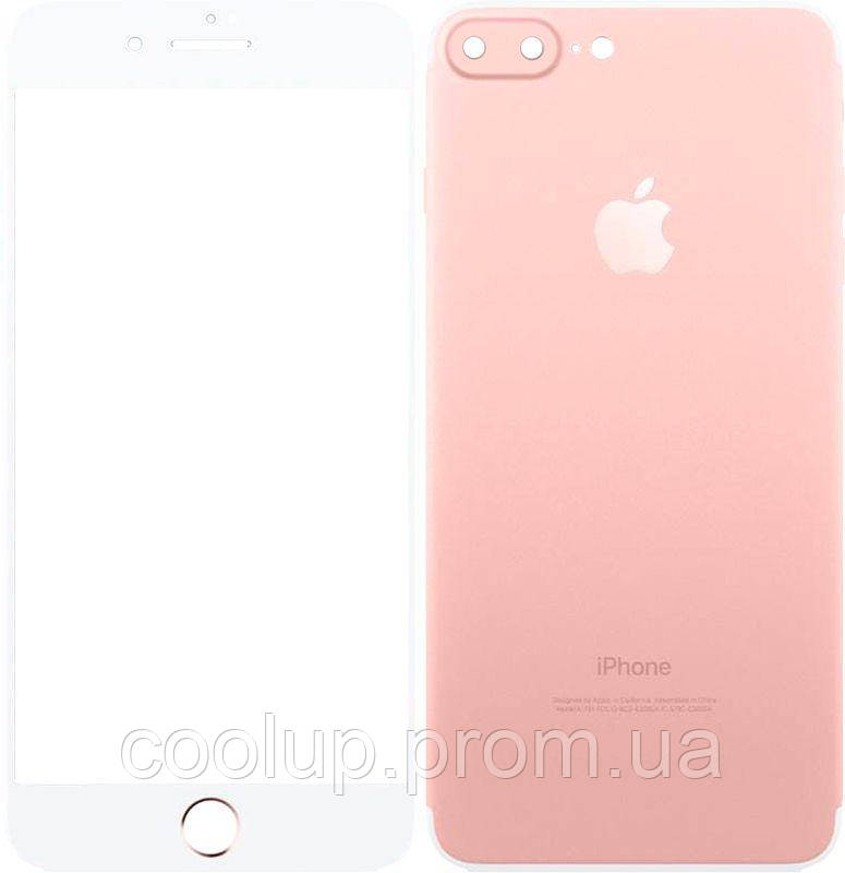 Защитное стекло TOTO 2,5D Full cover Tempered Glass front and back for iPhone 7 Plus Rose Gold