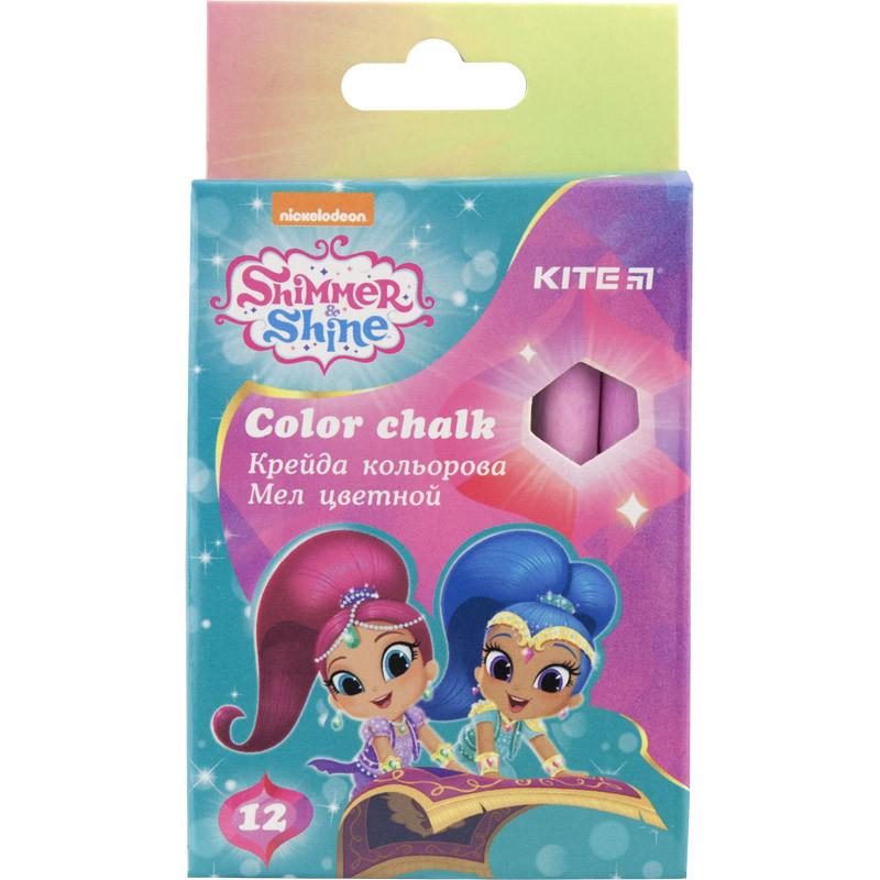 Мел цветной Kite Shimmer&Shine SH18-075, 12 штук