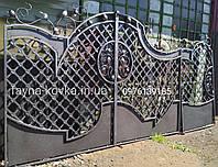 Кованые ворота, графит 210