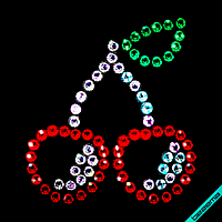 Аппликации на пояса Вишенки (Стекло,2мм-красн.,2мм-роз.,2мм-эмеральд.,2мм-бел.), фото 1