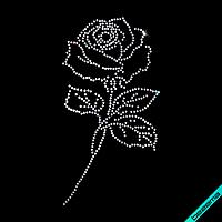 Декор из страз на скатерти Роза (Стекло,2мм-бел.)