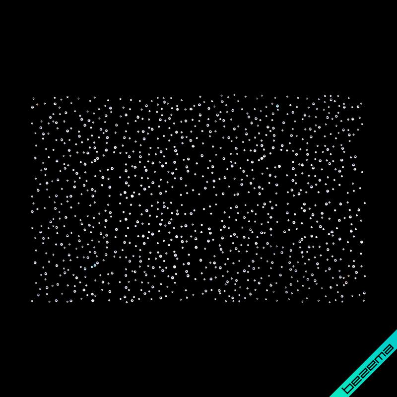 Аппликации на блузы Россыпь (Стекло,3мм-бел, 2мм-бел.)