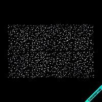 Аппликации на блузы Россыпь (Стекло,3мм-бел, 2мм-бел.), фото 1