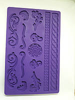 """Текстурный силиконовый молд""""завитки барокко"""" Китай - 02105"""