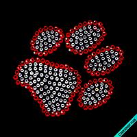 Переводки на ткань термо Лапка (Стекло,3мм-красн.,2мм-бел.)