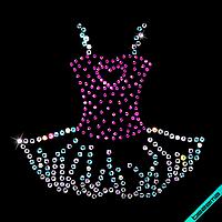 Термопечать на жакеты Гламурное платье (Стекло,2мм-роз.,3мм-бенз.)