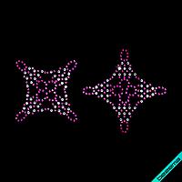 Термотрансферы на сандалии Узор (Стекло,2мм-фуксия,2мм-бел.)