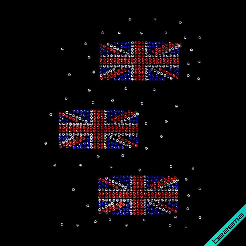Рисунки на свитеры United Kingdom (Стекло,2мм-бел.,2мм-син.,2мм-красн.)