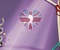 Стразы, аналог пайетки на белье United Kingdom (Стекло,3мм-бел.,2мм-син.,2мм-красн.)