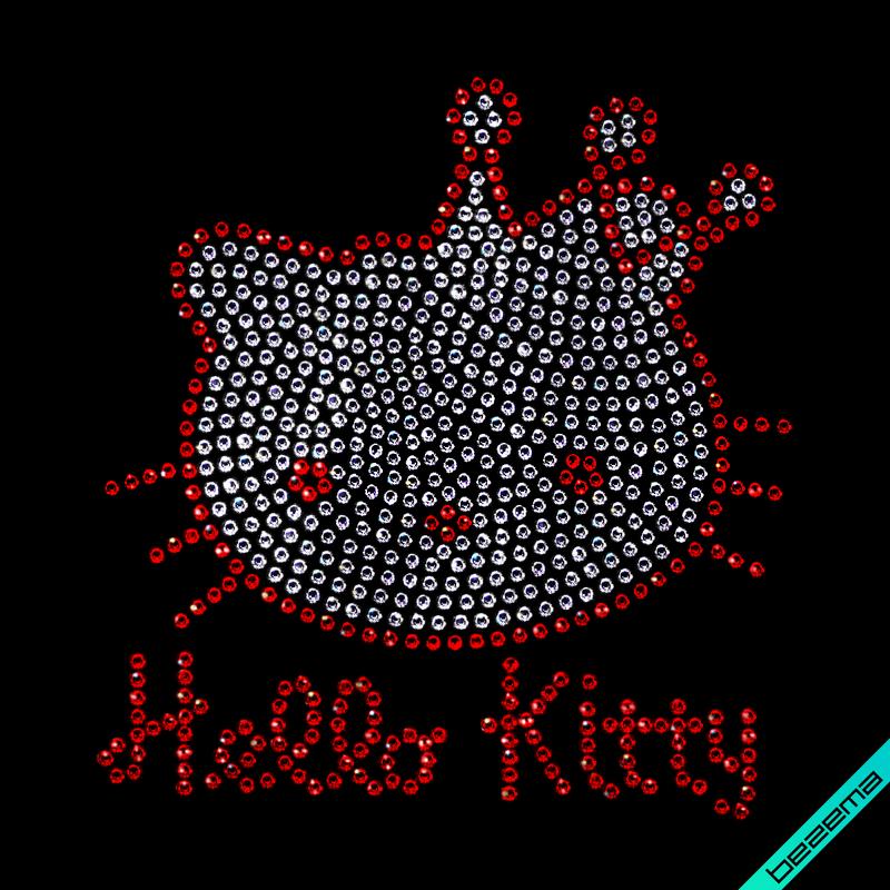 Наклейки на жакети Hello Kitty (Скло,2мм-червон.,2мм-біл.)