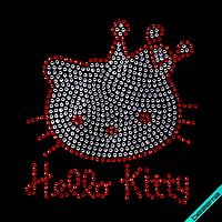 Наклейки на жакеты Hello Kitty (Стекло,2мм-красн.,2мм-бел.)