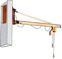 Кран консольный стационарный настенный 1т
