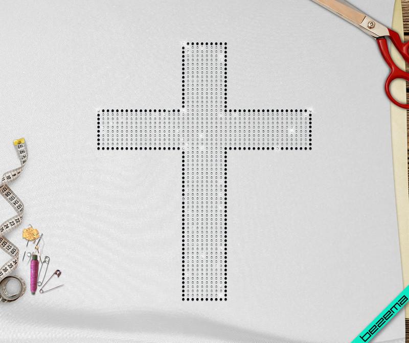 Дизайн на кофты Крест (Стекло,2мм-бел.,3мм-черн.)