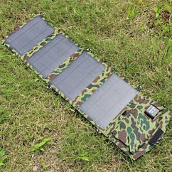 Солнечная батарея панель зарядка 14 Вт Mono Fodable 2USB 5V