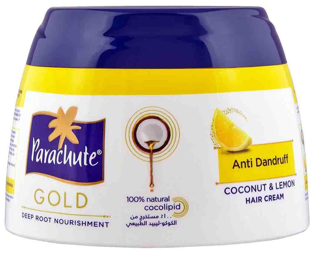 Parachute Gold c экстрактом Лимона. Кокосовый крем против перхоти, 140 мл