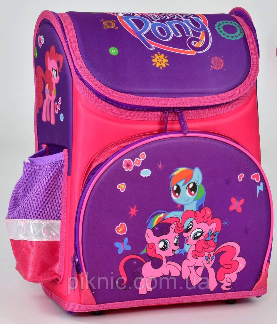 14028b5e1a0b Ранец школьный каркасный ортопедический Пони 1, 2, 3 класс. Для девочек.  Рюкзак