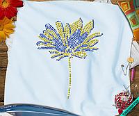 Дизайн на гольфы Цветок (Стекло,2мм-син.,3мм-жел.)